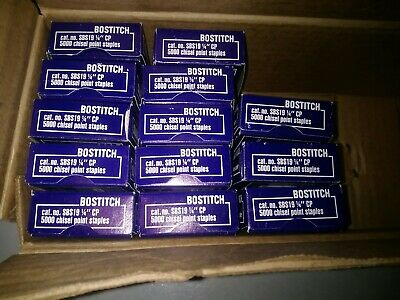 Bostitch Standard Staples 5000 Chisel Point  Lot of 13 =