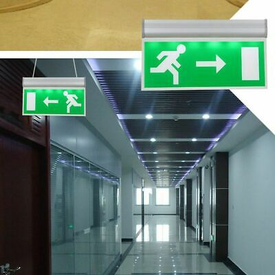 Emergency Exit Sign Light LED Ceiling Mount Running Man Double Sided Acrylic