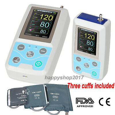 For Adult/Pediatric/Child Ambulatory Blood pressure Monitor 24 hours Three cuffs