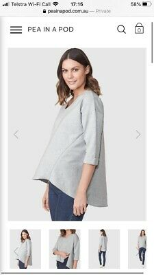 Pea In A Pod Maternity And Nursing Breastfeeding Top Size 8