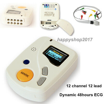 12 Channel 48 hours Recorder ECG/EKG Holter Monitor System Free software TLC6000