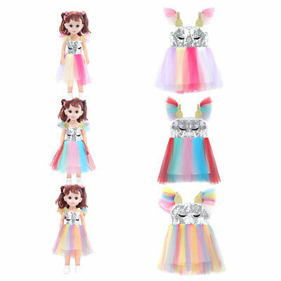 Princess Shiny Tulle Tutu Dress Clothes Outfit Set for 18'' Our Generation Dolls