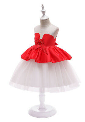 Kids Girls Baby Toddlers Princess Costume Holiday Party Lace Tutu Dresses Gowns
