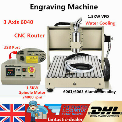 3 Axis 6040 DIY CNC Router Engraver Milling Machine Engraving Drill Ball Screws