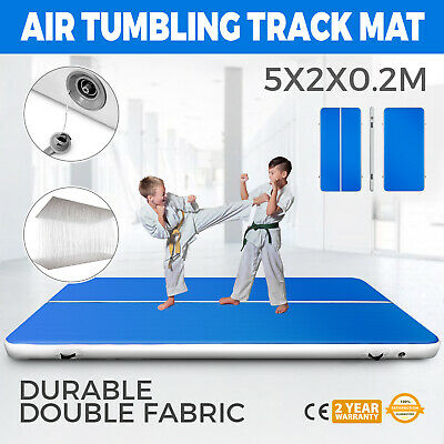 16Ft 20FT Air Track Airtrack Floor Tumbling Inflatable Gymnastics Mat 8in Thick