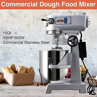 4/5HP 30Qt Commercial Bakery Mixer Dough Blender Food Mixer Gear Driven 600W