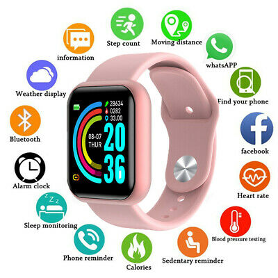 Fashion Women Lady Smart Watch Heart Rate Fitness Tracker For iOS Android Gift