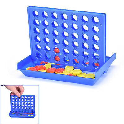 Connect Four In A Row 4 In A Line Board Game Kid Children Fun Educational Toy GD