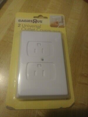 NEW Babies R Us Universal Outlet Covers - 2-Pack - White - Easy to Use & Install
