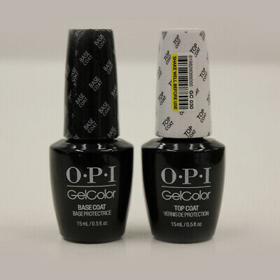 OPI Gel Color Top and Base Coat - 2 bottles x 15ml bottles - FREE FAST POSTAGE!