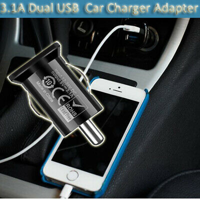 Adapter 2-Port  Lighter Socket Dual USB  Car Charger For iPhone 5 6 7 8 X iPod