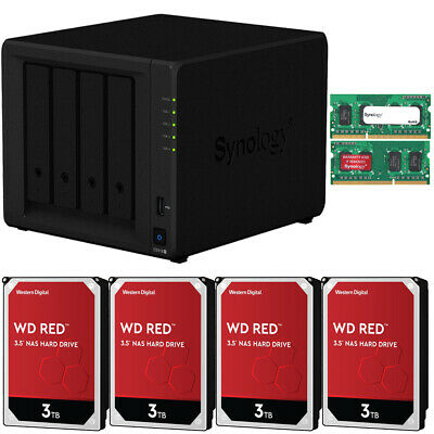 Synology DS918+ DiskStation 8GB RAM 12TB (4 x 3TB) Western Digital NAS Drives