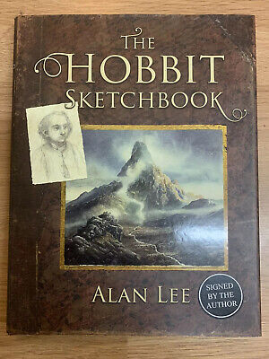 Alan Lee The Hobbit Sketchbook Signed In Person 1St Edition Hardcover 1/1