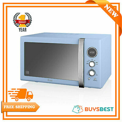 Swan Retro 25 Litres,900 Watts Digital Microwave Blue SM22085BLN