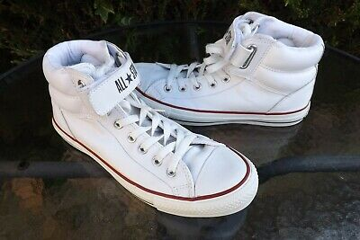 Converse All Star Chuck Taylor White Leather Hi Top Trainers Size Uk 7 Eu 40