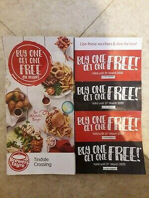 Brewer's Fayre Food Vouchers Valid until 31st March 2020 Only at Bishop Auckland