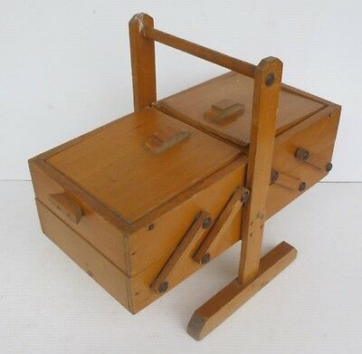 Small Worker Antique Wooden Sewing Dressmaker