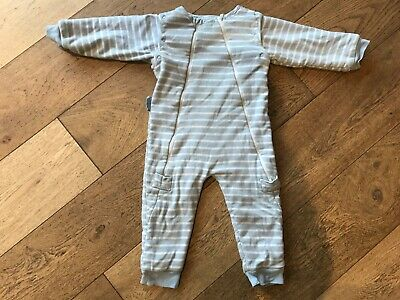 jojo maman sleep snuggler 18/24 months blue and white stripes, used condition