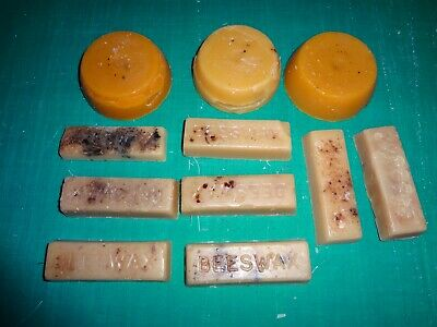 sectionl of 100% Natural Pure BEESWAX blocks approx 418 g