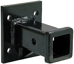 Heavy Duty 2 In Receiver Tube Bolt On Pintle Hitch Mount Adapter / Bumper Hitch