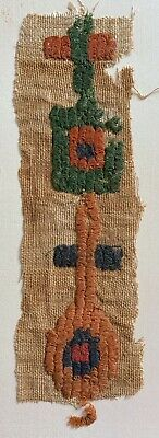 Ancient Egyptian Coptic Loop Pile Textile  Fragment  Ca 5/6 th Century