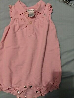 Baby Girls Polo Ralph Lauren Babygrow (6 Months) Excellent Condition