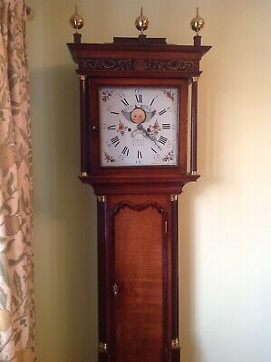 Stanyer, Chester, 8 Day Halifax Moon Oak Longcase Clock c. 1790