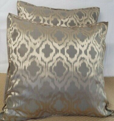£12.99 For A Pair Of 24 Inch Giant Cushions Beige And Coffee Colour