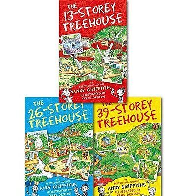 The 13-Storey Treehouse Collection 3 Books Set, Andy Griffiths & Terry Denton