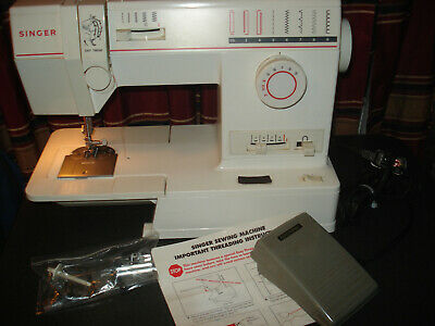 Singer Sewing Machine Model 9015 With Foot Pedal And Accessories