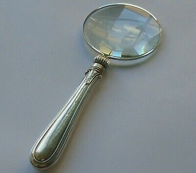 John Round HM Silver Handle Magnifying Glass Sheff 1921 George V