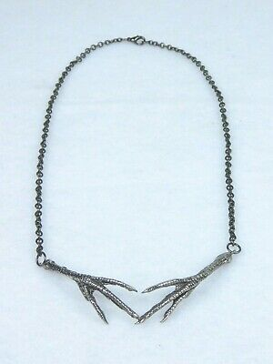 Pagan Goth Gothic Emo Men/'s Claw Talon Pendant Necklace Stainless Steel