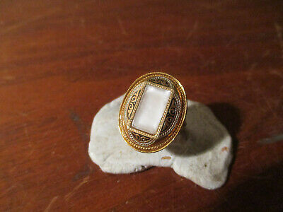 antique goldtone  ring with centre stone