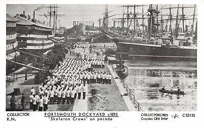 R231737 Collector R. N. Portsmouth Dockyard. Skeleton Crews on Parade. Collector