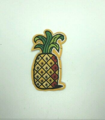 """Tropical 1.5/""""H Fruit Pineapple Embroidered Iron On Applique Patch"""