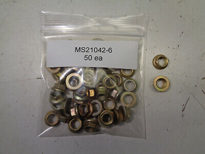 Self Locking Nuts Ms21042-6 --  50 Each New