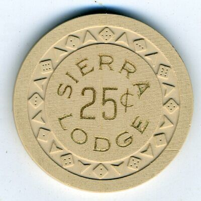 1950s 25-cent chip from the Sierra Lodge, Lake Tahoe, Arodie mold