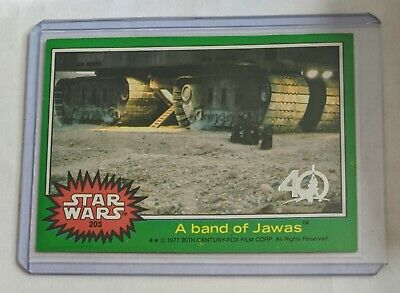 A Band of Jawas Topps Star Wars 40th Anniversary Green parallel Buyback Rare SSP