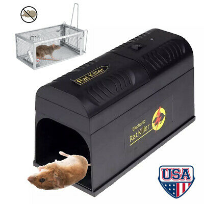 Mouse Trap Electronic mice Killer Rat Pest Control Electric Zapper Rodent Garden