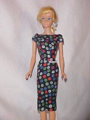 1960 Vintage Barbie Apple Print Sheath #917