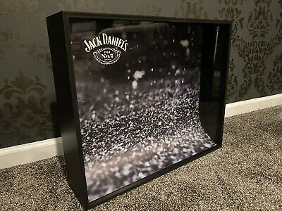 """Jack Daniels Old No. 7 Shadow Box 24"""" x 20"""" Display Case / Sign. Collector's."""