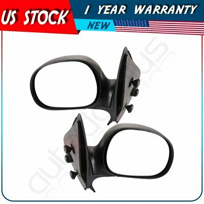 For 99-01 Ford Ranger M-3 Style LED Manual Side Mirror Arrow Signal Amber Blue