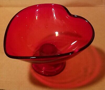 Red Heart Shaped Candy Dish