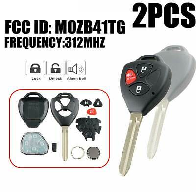 Replacement for Toyota Yaris Scion xD tC Keyless Entry Remote Car Key Fob G Pair