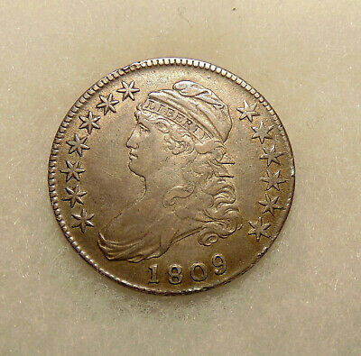 1809 Capped Bust Half - Overton 115 - Very Nice Lookig Coin - FREE SHIPPING