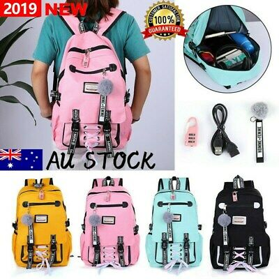 Women's Large school bags for teenage girls AU backpack theft Anti lock with usb