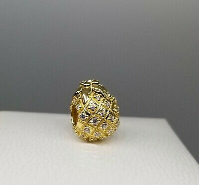 golden PINEAPPLE Authentic pandora shine Yellow GOLD Plated Charm 767904CCZ