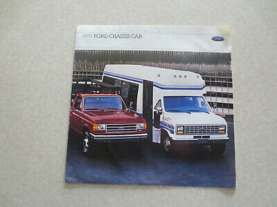 1989 Ford Chassis-Cab F Series truck & Econoline van advertising brochure