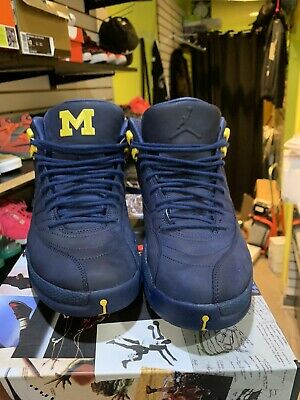 Nike Air Jordan 12 XII Retro Michigan BQ3180 407 Mens Size 12