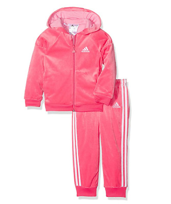 Adidas I Winter Velour Pink Tracksuit Age 2-3 Years TD001 NN 08